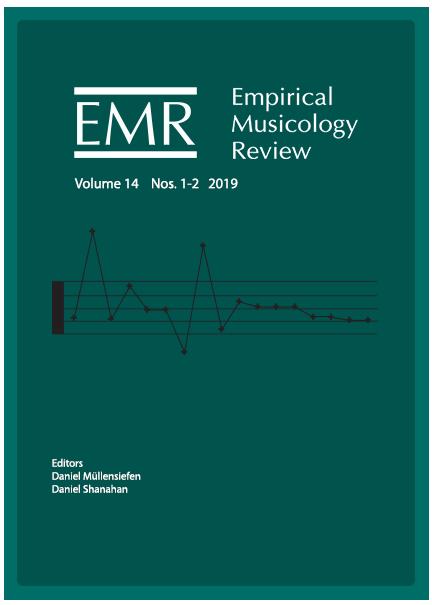 Empirical Musicology Review Volume 14 Nos. 1-2 2019