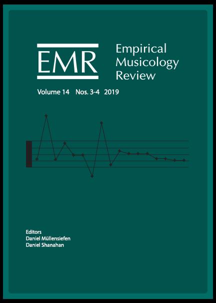 Empirical Musicology Review Volume 14 Nos. 3-4 2019