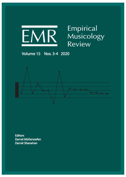 Empirical Musicology Review Volume 15 Nos. 3-4 2020